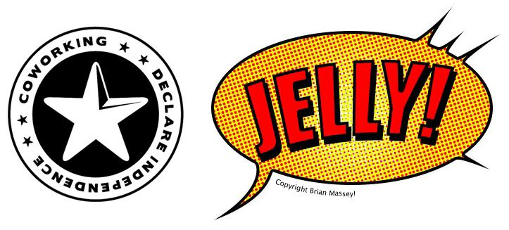 Coworking & Jelly Logo - freelancer & home workers salvation